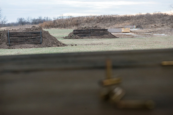 Globe/Roger Nomer<br /> A view down the rifle range at Outdoor Addicts shows berms in place to stop bullets.