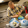 Globe/Roger Nomer<br /> Jim Benton, executive director of the Carthage Crisis Center, plans to help prepare meals at the Center for a Christmas meal, shown here in the kitchen on Wednesday.