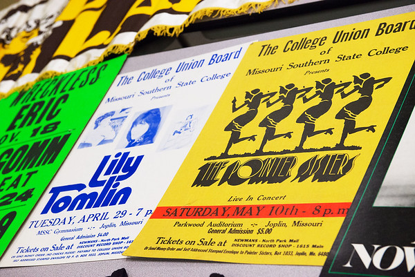 Globe/Roger Nomer<br /> Posters up for auction include events held at Missouri Southern.