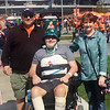 Contributed Photo<br /> Scott, Grant and Tammy Trent attend a Denver Broncos game while in Colorado for Grant's rehab in early October.