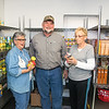 Globe/Anne Brown<br /> Helping to stock the Seneca Food Pantry are (from left) Linda Ginger, Russ Ginger and Doris Mead.