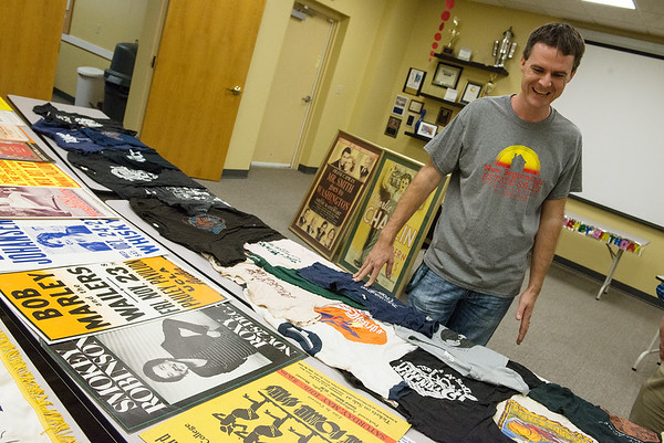 Globe/Roger Nomer<br /> Michael Wicklund talks about some of the pop culture items up for auction during an interview on Monday.