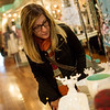 Globe/Roger Nomer<br /> Rita Dobbs, Webb City, shops at the Blue Moon Boutique on Friday afternoon.