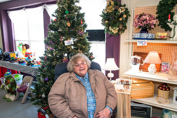 Globe/Anne Brown<br /> Martha Graham, a board member with the Seneca Food Pantry and Thrift Store, talks about the history of the ministry inside the store at 821 N. Cherokee St., in Seneca.