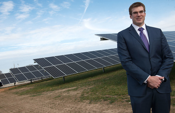 Globe/Roger Nomer<br /> Jon Miller, director of solar investments at Gardner Capital Solar, talks about a solar plant near Nixa on Friday during an interview.