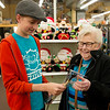 Globe/Roger Nomer<br /> Joy Brintnall, Joplin, shops with her grandson Jude Wolfe, 14, on Friday at Pearl Brothers Hardware.