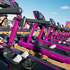Globe/Roger Nomer<br /> Dillon Ward, with Planet Fitness Equipment, assembles treadmills on Wednesday at Joplin's Planet Fitness.