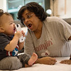 Globe/Roger <br /> Anita Reeves plays with her grandson Rohen on Saturday in Joplin.