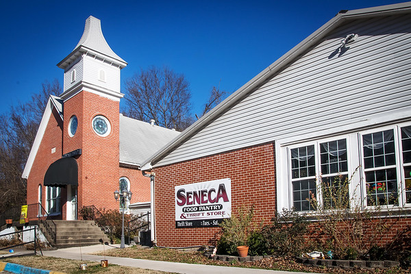 Globe/Anne Brown<br /> The Seneca Food Pantry and Thrift Store is located at 821 N. Cherokee St. in Seneca. The ministry bought the former Seneca Christian Church next to it for storage purposes..