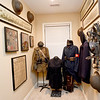 Numerous World War I items line the walls in a room at World War I collector Shannon Kelly's home. Kelly's grandfather, James Greg Kelly, served in WWI.<br /> Globe | Laurie Sisk