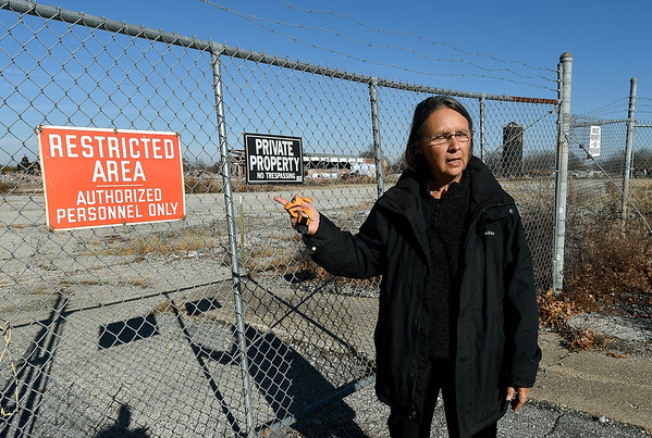Rebecca Jim , execuive director of the L.E.A.D. Agency in Miami, talks about the environmental dangers still present on the grounds of the former B.F. Goodrich company in Miami, which operated for about 40 years. Globe | Laurie SIsk