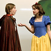 From the left: Chloe Browe (Little Red Riding Hood) and Isabella Sotlar (Snow White) rehearse their roles for Joplin High School's annual Christmas children's show on Tuesday night at JHS.<br /> Globe | Laurie Sisk