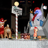 "Inflatable characters reenact the children's favorite, ""Rudolph the Red Nosed Reindeer"" during the 2018 Christmas Parade on Tuesday night in Downtown Joplin.<br /> Globe 