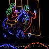 Mary and Joseph light up the night sky during the Way of Salvation Christmas light display on Wednesday night at the Congregation of the Mother of the Redeemer in Carthage.<br /> Globe | Laurie Sisk