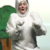 Jalyn Hunt Zuckerberg perfects her role as the White Rabbit during  Joplin High School's rehearsal for its annual Christmas children's show on Tuesday night at JHS.<br /> Globe | Laurie Sisk