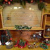 Christmas decorations for sale sit inside the Warming Room at Bowen's Christmas Tree Farm.<br /> Globe | Laurie SIsk