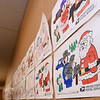 Art from Noel students grace the walls of the Noel Post Office on Thursday.<br /> Globe |Laurie SIsk