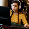 Arabella McEntire plays a game of Overwatch at her home in Monett on Monday.<br /> Globe | Roger Nomer