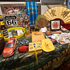 A table containing gifts from visitors traveling Route 66 sits at SuperTam on 66 on Tuesday afternoon. The store is a popular stop for tourists - many from China-  traveling on historic Route 66.<br /> Globe | Laurie Sisk
