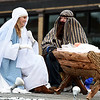 The nativity is recreated by members of the First Christian Church of Miami during the Baxter Springs Christmas Parade on Saturday in downtown Baxter Springs.<br /> Globe | Laurie Sisk