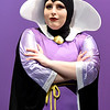 """Carly Cascone portrays the Evil Queen during rehearsals for the upcoming Joplin High School production of """"Snow White and the Missing Dwarfs"""" on Tuesday at JHS.<br /> Globe 
