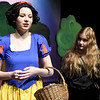 """From the left: Elise Leek (as Snow White) and Jasmine DeGroat (as a witch) rehearse their roles for the upcoming Joplin High School production of """"Snow White and the Missing Dwarfs"""" on Tuesday at JHS.<br /> Globe 