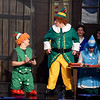 "Jeff Phillips, center, portrays Buddy the Elf during the final dress rehearsal for the Ozark Christian College production of ""Elf: The Musical"" on Wednesday night at OCC.<br /> Globe 