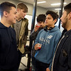Jackson Carter (left) talks with friends following his signing ceremony on Thursday at Franklin Tech.<br /> Globe | Roger Nomer