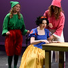 "From the left: Ashlynn Hardesty (dwarf,) Elise Leek (Snow White) and Kenzi Badr (dwarf) rehearse their roles for the upcoming Joplin High School production of ""Snow White and the Missing Dwarfs"" on Tuesday at JHS.<br /> Globe 