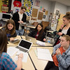 Members of the Joplin High School Constitution Team work on planning a trip to Washington D.C. during class at JHS on Friday.<br /> Globe | Roger Nomer