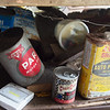 Oil cans are left over from the time when the De Soto car plant used to be a filling station.<br /> Globe | Roger Nomer