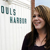 Globe/T. Rob Brown<br /> Shelby Ball, 18, of Wyandotte, Okla., stands outside Souls Harbor as she waits for the dinner call, happy because she had just gotten a job that day, Wednesday evening, Feb. 22, 2012, in Joplin.