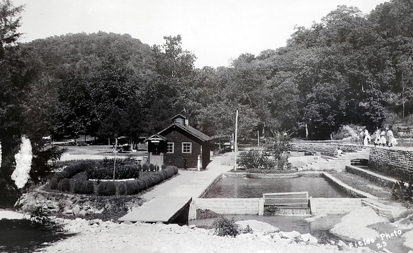 Courtesy Roaring River State Park<br /> A black and white image of the fish hatchery taken at the historic Roaring River State Park near Cassville.