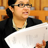 Globe/T. Rob Brown<br /> Pam Roychaudhury, staff attorney with Legal Aide of Western Missouri and the Voices in Court attorney, speaks as she looks through paperwork Thursday morning, Feb. 23, 2012, in the Economic Security building in downtown Joplin. Voices in Court, which helps people in need of legal assistance, is one of the charitable organizations that receive funding from United Way.
