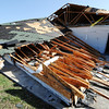 Globe/T. Rob Brown<br /> The Economy Inn & Suites restaurant was severely damaged due to Tuesday night's severe storm, in Pittsburg, Kan., as seen Wednesday morning, Feb. 29, 2012.