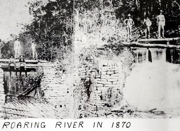 Courtesy Roaring River State Park<br /> A black and white image taken in 1870 at the historic Roaring River State Park near Cassville.