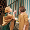 """Globe/Roger Nomer<br /> Devri Brock, as Grace Harrington, left, argues with Abigail Railsback, as Patricia Harrington, during a rehearsal at Missouri Southern for """"The Patsy."""""""