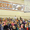 Globe/T. Rob Brown<br /> Joplin South Middle School students clap during an assembly Thursday afternoon, Feb. 7, 2013, in the school's gymnasium.