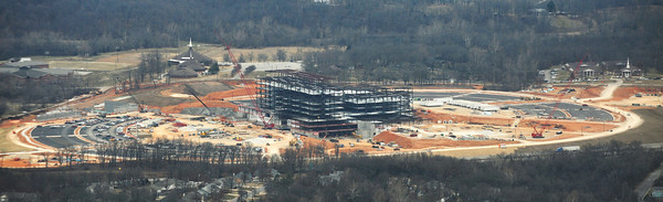Globe/Roger Nomer<br /> One of the sights city officials saw from the air is the new Mercy Hospital.