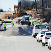 Globe/T. Rob Brown<br /> Work continues above the Zora-Main interchange on Zora Street Tuesday afternoon, Feb. 5, 2013.
