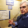 Globe/T. Rob Brown<br /> Larry O'Neal, historian and event co-chair, with the Baxter Springs (Kan.) Heritage Center and Museum, talks about the historic events regarding the massacre at the fort.