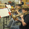 Globe/Roger Nomer<br /> The Carl Junction Jazz Band practices on Tuesday morning.