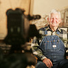 Globe/Roger Nomer<br /> Billie Crawford prepares for his interview on Monday at the Dobson Museum.