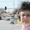 Globe/T. Rob Brown<br /> Linda Lawrence, who lives in the 2800 block of North Missouri Avenue, is one of the residents near the Zora-Main interchange who is not happy with the way things are proceeding for her and her neighbors Tuesday afternoon, Feb. 5, 2013.