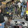 Don Smith looks over some of the bicycles that have already been repaired and are ready to be loaned out at Campus Christians in Pittsburg. The organization has loaned about 250 bikes this year to international students at Pittsburg State University.<br /> Globe | Laurie Sisk