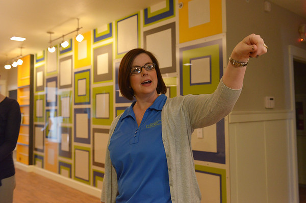 Globe/Roger Nomer<br /> Liz Erickson, development coordinator for Children's Haven, gives a tour of the new building on Wednesday.