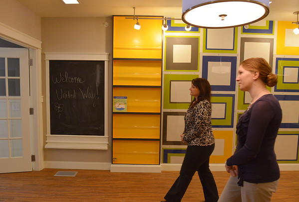 Globe/Roger Nomer<br /> Stephanie Howard, left, and Adrienne Jackson, board members of the Community Foundation of Southwest Missouri, tour the new Children's Haven building on Wednesday.