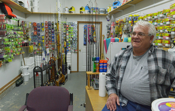 Globe/Roger Nomer<br /> Floyd Reeves talks about his store, Floyd's Bait and Tackle in Asbury during an interview on Saturday, Feb. 15.