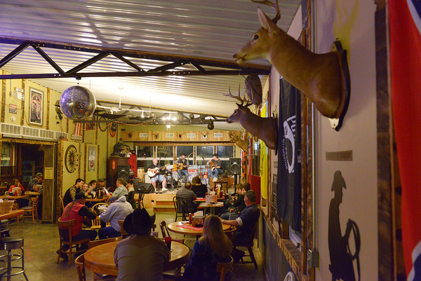 Globe/Roger Nomer<br /> On Saturday nights, Cowboy Bob's features live music at its indoor venue. The restaurant plans to expand an outdoor area for performances this year.