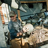 Globe/Roger Nomer<br /> Zach Collard sorts decoys at his Pittsburg home on Friday.